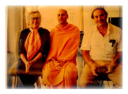 Radhanath Swami along with his Parents
